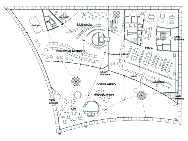 Nuevas especies de espacios for Planta arquitectonica biblioteca