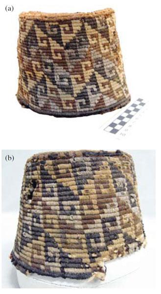 (a) Gorro en aduja troncocónico con diseño de ganchos  ejemplar MMOOR 01504  del Museo Eduardo Rivas de Oruro d9c1ec6e762