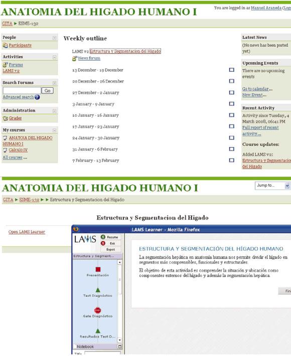 Contenidos de Anatomía en Diseños de Aprendizaje Dispuestos en LAMS ...