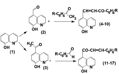 SYNTHESIS OF 8 HYDROXYQUINOLINE CHALCONES TRANS CONFIGURATION