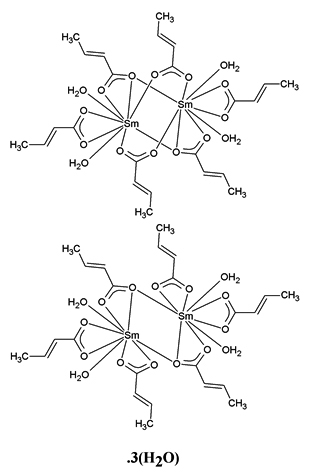 Crystal Structure Of Hemikistetrakis2 2 Butenoato Bis2