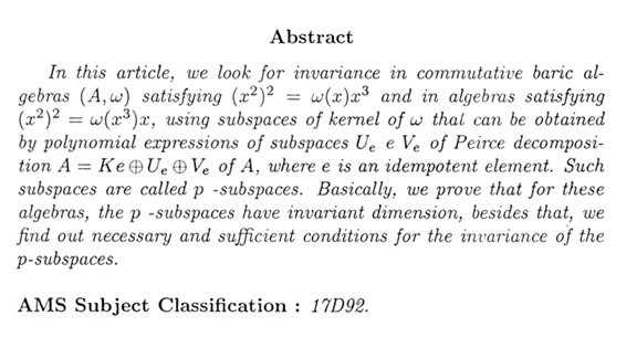 on the invariance of subspaces in some baric algebras