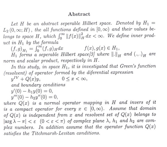 green s function of differential equation with fourth order and