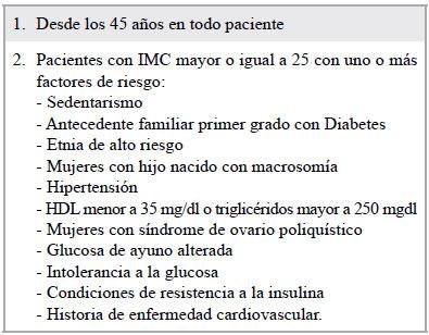 análisis de laboratorio para la diabetes