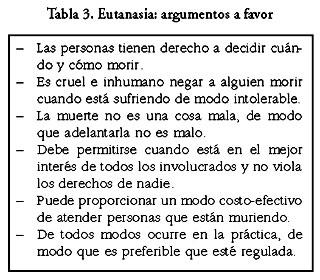 Cada uno de los argumentos que se utilizan tanto en pro como en contra de la  eutanasia 33fe0867841e