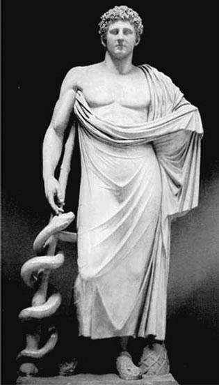 La vara de Esculapio, símbolo de la medicina