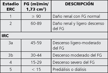 Enfermedades del rinon creatinina