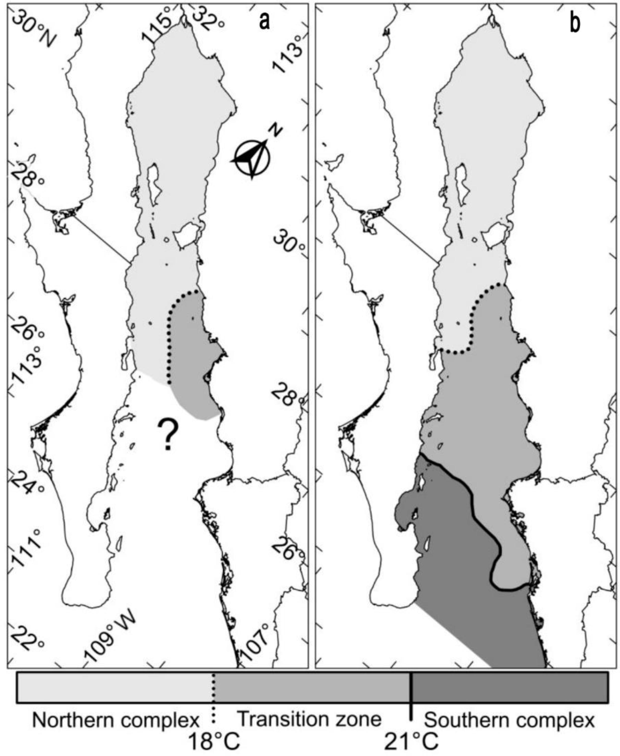 Regionalization in the distribution of larval fish