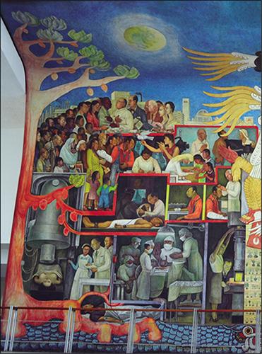 Diego Rivera La Historia De La Medicina En Mexico El Pueblo En